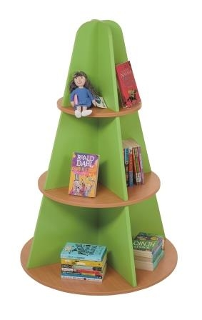 Round tiered tree display